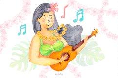 Watercolor Hawaii Clipart, Summer Island Beach, Aloha, PNG Product Image 6