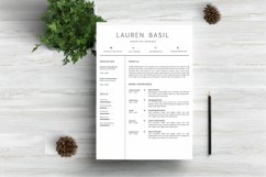 MS WORD Creative Resume Template CV Design Product Image 1