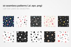 Loving Hearts Seamless Patterns Product Image 4