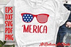 America Svg Merica SVG Merica sunglasses Svg 4th of July Svg Product Image 3