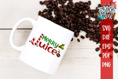 Merry Juice Christmas Coffee SVG Product Image 1