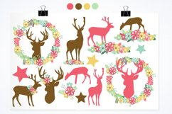 Floral Deers graphics and illustrations Product Image 2