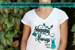 Shopping is Always a Great Idea SVG Cut File LL096F Product Image 3