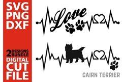 2x Cairn Terrier Bundle svg, Dog svg, Heartbeat svg, Love Product Image 1