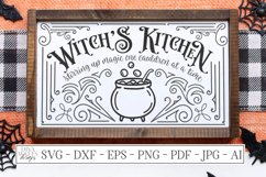 Witch's Witches Kitchen - Cauldron - Halloween SVG DXF EPS Product Image 1