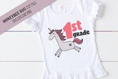 1st Grade Unicorn SVG Cut File Product Image 1