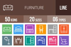 50 Furniture Line Multicolor B/G Icons Product Image 1