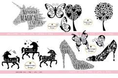 SVG Bundle Unicorn, Butterflies, Trees, Shoes Product Image 1