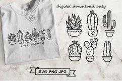 Cactus SVG Bundle - Succulent svg - Cactus clip art Product Image 1