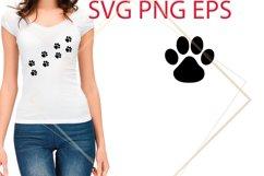 Dog Paw SVG Files, Dog Paw Print Cut Files Product Image 1