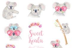 Koala watercolor clipart Product Image 2