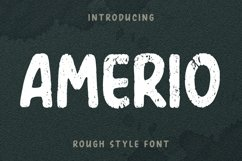 AMERIO Rough Style Font Product Image 1