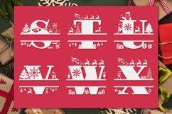 Christmas Monogram Alphabet   Christmas Split Letters Product Image 6