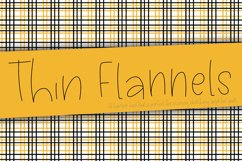 Thin Flannels Hairline Font, Scoring, Sketching, Foil Quill Product Image 1