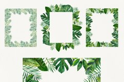 Watercolor tropical leaves ,clip art. Drawing Tropical Product Image 3