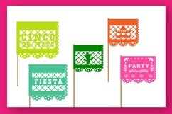 Papercut blocks font a mexican party banner Product Image 3