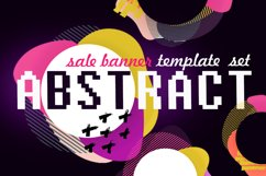 Abstract sale web template banner set Product Image 1