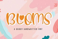 Blooms - Quirky Font Product Image 1
