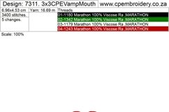 Vampy Mouth Applique Design Product Image 2