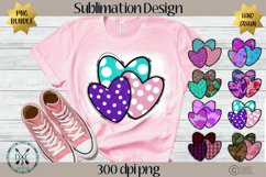 Sublimation Designs for Shirts PNG Bundle- Valentine Hearts Product Image 1