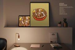 Beautiful Beer Girl Mascot Badge SVG Illustrations Product Image 3