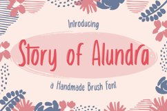 Story of Alundra - Cute Brush Font Product Image 1