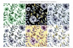 ANEMONE watercolor patterns set Product Image 2