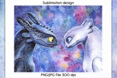 How to train your dragon Sublimation design, PNG/JPG File Product Image 1