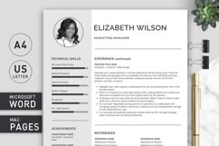 Creative Resume Template, CV Template, Resume Template Word Product Image 3