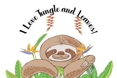 Sloths in Jungle Digital Clipart Product Image 6