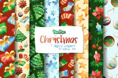 Christmas Digital Papers Product Image 1