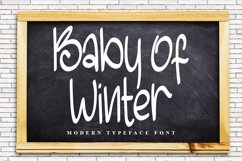 Baby Of Winter - Modern Typeface Font Product Image 1