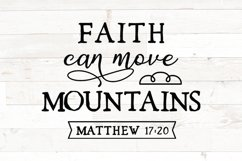 bible verse svg, Faith can move mountains, matthew 17 20 Product Image 1