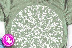 Mandala svg wall art Flowers leaves print Home decor Cricut Product Image 1