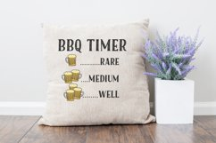 BBQ Timer SVG | Drinking Beer SVG Product Image 2