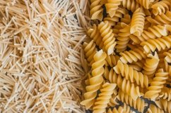 Different types of pasta on a stone Product Image 6