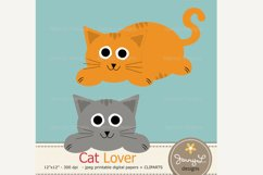 Cat Digital Papers and Clipart SET Product Image 2