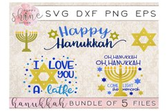 Hannukah Bundle of 5 SVG PNG EPS DXF Cutting Files Product Image 1