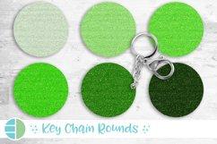 Mardi Gras Green Glitter Keychain Sublimation Bundle Keyring Product Image 1
