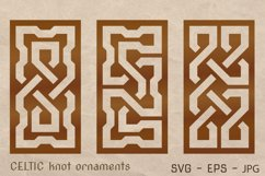 CELTIC knot ornaments set. Laser CUTTING stencil. Product Image 1