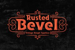 Rusted Bevel Typeface Product Image 1