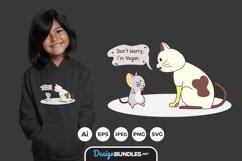 I am Vegan Cute Illustrations for T-Shirt Design Product Image 1