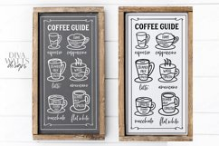 Coffee Bar - Guide Cheat Sheet - Farmhouse Kitchen Sign SVG Product Image 1