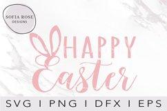 Happy Easter SVG Easter Bunny Ears SVG, Easter SVG Product Image 2