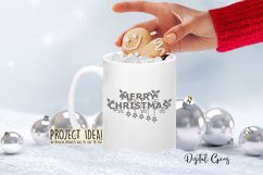 Merry Christmas paper cut SVG / DXF / EPS files Product Image 6