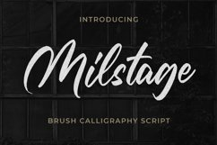 Milstage - Brush Calligraphy Script Product Image 1
