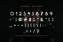 Maladewa - Decorative Font DR Product Image 4
