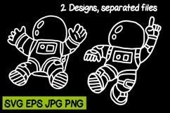 Astronaut 2 Designs - SVG PNG JPG EPS Product Image 1