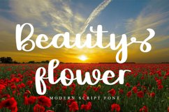 Beauty Flower | Modern Script Font Product Image 1