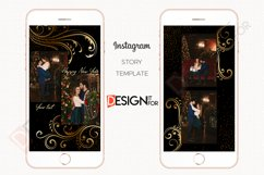 Black Gold Floral Instagram Story Template Product Image 2